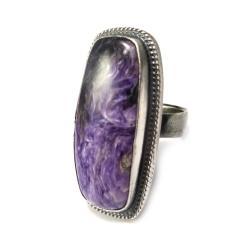 czaroit,tajemniczy,srebro,lawenda,srebrny - Pierścionki - Biżuteria
