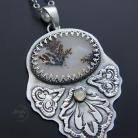 Naszyjniki srebrny,naszyjnik,z opalem etiopskim