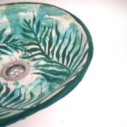 umywalka ręcznie malowana,umywalka,zlew - Ceramika i szkło - Wyposażenie wnętrz
