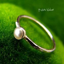 Nehesi,Pierścień,perły,srebrny,srebra - Pierścionki - Biżuteria