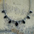 Naszyjniki czarny kamień,czerń,baśń,mrok,smocze szkło