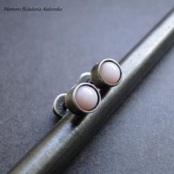 sztyfty,srebro,opal,surowe - Kolczyki - Biżuteria