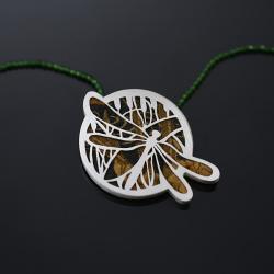 ważka wisior,srebrny wisiorek - Wisiory - Biżuteria