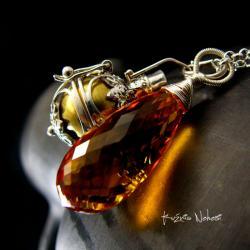Nehesi,Naszyjnik,Wisior,cytrynem,srebro,unikat - Naszyjniki - Biżuteria