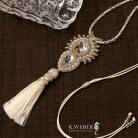 Wisiory wisior,kryształ,długi,elegancki,złoty,