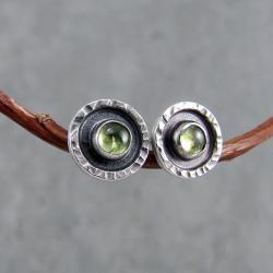drobne,surowe,sztyfty,okrągłe,z oczkiem - Kolczyki - Biżuteria