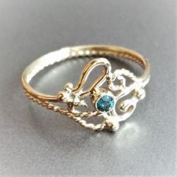 inny pierścionekk zaręczynowy,unikat - Pierścionki - Biżuteria