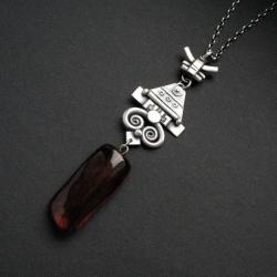 wisior,etno,boho,biżuteria artystyczna,fiann - Wisiory - Biżuteria