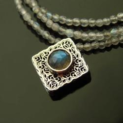 srebro,labradoryt,nasyzjnik,celebrytka - Naszyjniki - Biżuteria