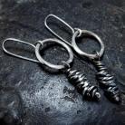 Kolczyki Kolczyki - srebrne kółka i zawijane druty