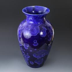 wazon,kobalt,ceramika,krystaliczna,duży wazon - Ceramika i szkło - Wyposażenie wnętrz