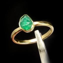 szmaragd,srebrny,srebro,zielony,srebro,zaręczynowy - Pierścionki - Biżuteria