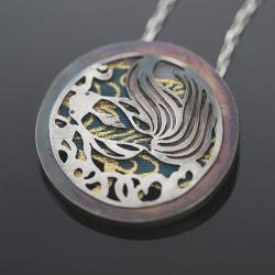 srebrny wisior,wisior rybka,japoński wisior - Wisiory - Biżuteria