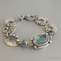 artystyczna,kółko,bransoletka,fluoryt,ela rubin - Bransoletki - Biżuteria