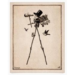 albert,rysunek,rycina,szczudła - Ilustracje, rysunki, fotografia - Wyposażenie wnętrz