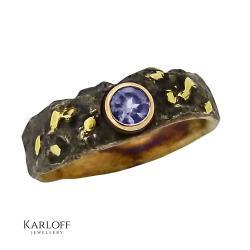 pierścionek,tanzanit,złoto,srebro - Pierścionki - Biżuteria