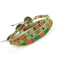 etno,boho,gypsy,biżuteria z lnu - Bransoletki - Biżuteria