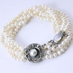 kobiecy naszyjnik,Marta Grzywna,perłowy - Naszyjniki - Biżuteria