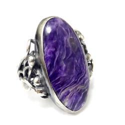 czaroit,lawendowy,srebro,retro,srebrny,fiolet,styl - Pierścionki - Biżuteria