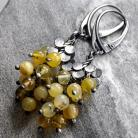 Kolczyki Żółte opale