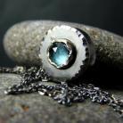 Naszyjniki srebro,topaz,london blue,naszyjnik,celebrytka