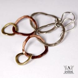 kolczyki geometryczne,kółka,koła - Kolczyki - Biżuteria