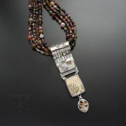 naszyjnik,z turmalinami,okazały,długi - Naszyjniki - Biżuteria