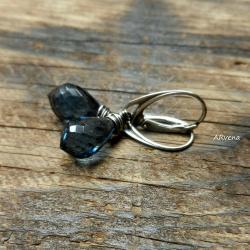 eleganckie kolczyki,niebieski kwarc - Kolczyki - Biżuteria