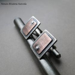srebro,miedź,surowe,gwoździe,spinki - Dla mężczyzn - Biżuteria