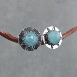 gwiazdki,okrągłe,drobne,młotkowane,boho,sztyft - Kolczyki - Biżuteria