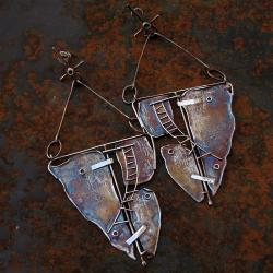 metaloplastyka,długie kolczyki - Kolczyki - Biżuteria