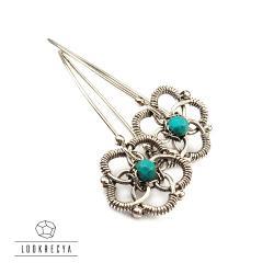 kwiatowe kolczyki srebrne,smukłe - Kolczyki - Biżuteria