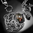 Naszyjniki srebrny,naszyjnik,wire-wrapping,jaspis,oceaniczny