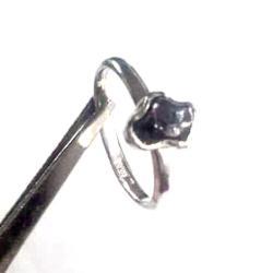 srebrny,blask,meteoryt,szarości,srebro,metaliczny - Pierścionki - Biżuteria