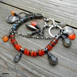 letnia bransoletka,w pomarańczach - Bransoletki - Biżuteria