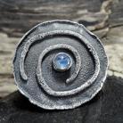 Pierścionki Pierścień z kamieniem księżycowym