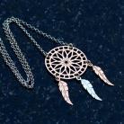 Naszyjniki srebrny,prezent,etniczny,orientalny,dreamcatcher