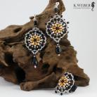 Komplety Ażurowy,bardzo uniwersalny komplet biżuterii