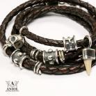 Bransoletki rockowa biżuteria,bransoleta z rzemienia,czaszka