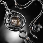 Naszyjniki srebrny,naszyjnik,wire-wrapping,kwarc rutylowy