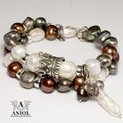 Bransoletki komplet bransolet,biżuteria z pereł
