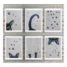 Obrazy koty,abstrakcja,akwarela
