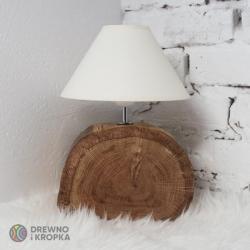 lampa,dębowa,z plastra,drewniana,kremowa - Inne - Wyposażenie wnętrz