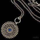 Wisiory lapis lazuli,misterny,unikatowy,wire wrapping