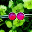 Kolczyki sztyfty,kolor,intensywne,wyraziste,Jewels by KT
