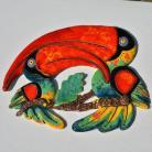 Ceramika i szkło Beata Kmieć,tukan,ptak,dekor,ceramika,obraz