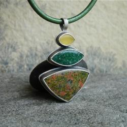 zielony,zieleń,unakit,Rivendell - Wisiory - Biżuteria