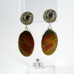 Kolczyki z jaspisami - Kolczyki - Biżuteria