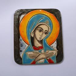 Beata Kmieć,ikona,ceramika,obraz,Matka Boska - Ceramika i szkło - Wyposażenie wnętrz