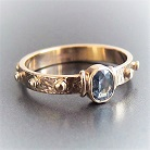 Pierścionki złoty pierścionek różaniec,pierścionek z szafirem
